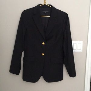Wool brooks brothers blzr gold button perfect cond